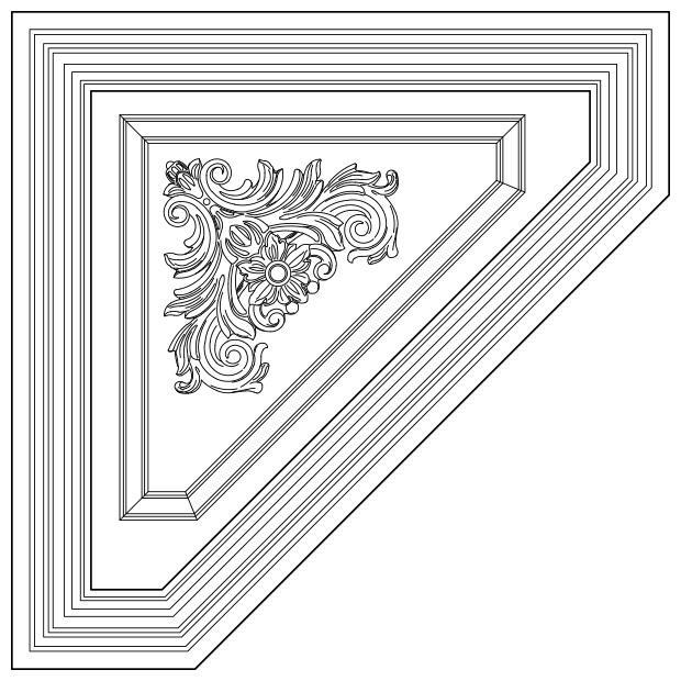 Biscaya - Truncated w/ Panel Insert