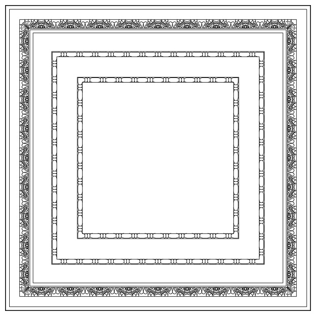 Toscana - Lay-in Coffer Panel w/ Panel Insert