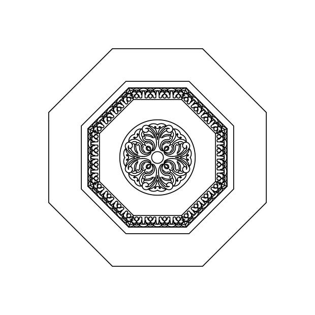 Venezia - Carved Octagon Panel Insert