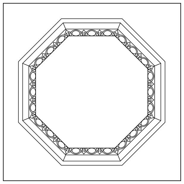 Venezia - Octagon Egg & Dart Lay-in Coffer Panel
